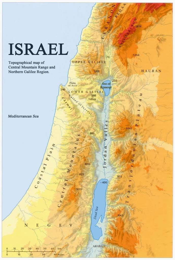 Dansk Israelsk Forening Dif Topografisk Kort Over Det Nordlige
