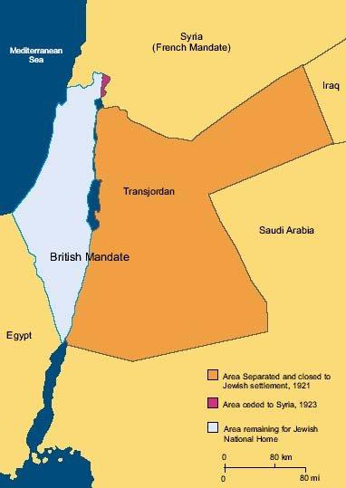 palæstina kort